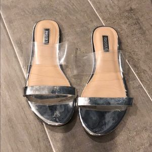Forever 21 clear and silver sandals